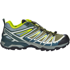 Salomon M's X Ultra 3 GTX Shoes Castor Gray/Darkest Spruce/Acid Lim